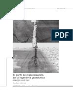 Perfil de Meteorizacion Estudios Geotecnicos
