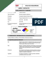 Msds Limpia Contacto-Vistony