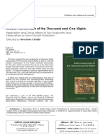 Arabic manuscripts of the Thousand and One Nights