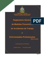 Reglamento Gral Medidas Preventivas Accidentes de Trabajo