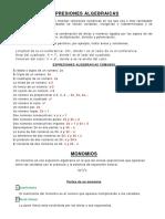 Polinomios, Factorización y Expresiones Racionales