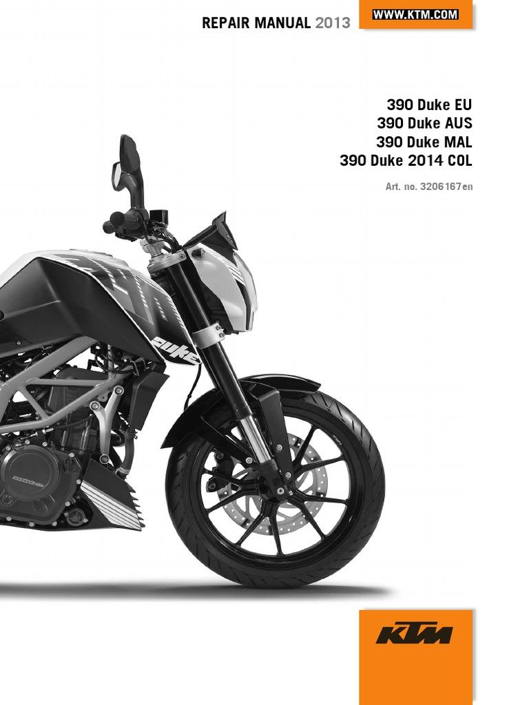 duke 390 repair manual full version 204pages clutch cylinder rh scribd com ktm exc shop manual ktm shop manuals