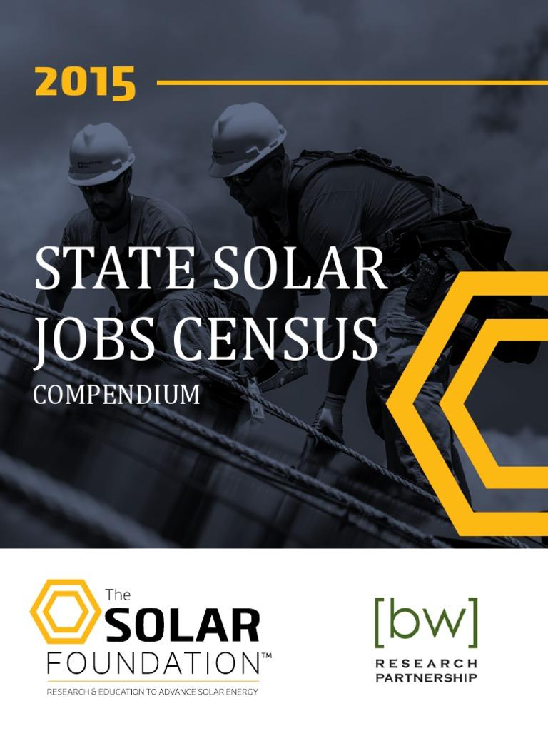 TSF State Solar Jobs Census Compendium   Solar Power   Renewable Energy