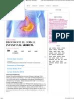 Reconoce El Dolor Intestinal Mortal - Barcelona Alternativa