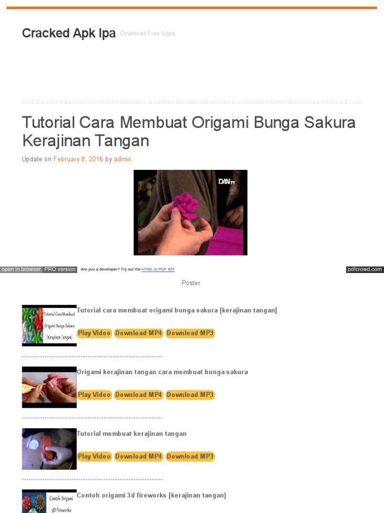 Caeadapkipzf Hol Es Tutorial Cara Membuat Origami Bunga Saku ... 44f7458ffc
