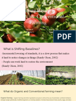 shifting baselines organic vs  conventional farming   1