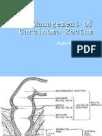 Management of Carcinoma Rectum