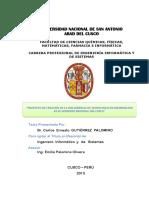 Tesis- Proyecto de Creacion de La Sub Gerencia de TI en El GRC