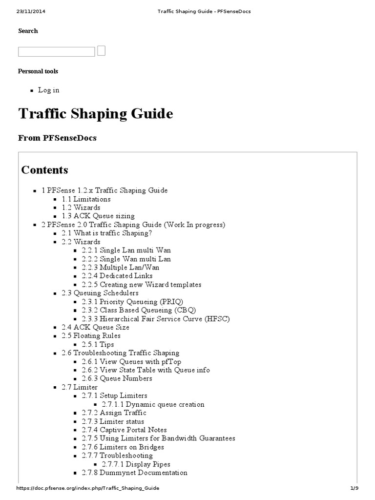 Traffic Shaping Guide - PFSenseDocs | Firewall (Computing