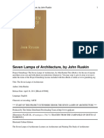 The Seven Lamps of Architect