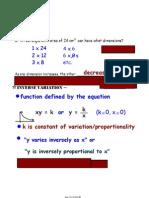 Algebra II-9 Notes April 13