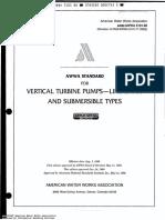 AWWA E 101 (Vertical Turbine Pumps).pdf