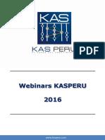Webinars KASPERU 2016-Catalogo de Seminarios