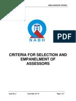 Criteria 4 Assessor Empanel Ment