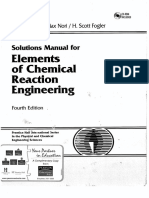 Elements of Chemical Reaction Engineering 4th Ed Fogler Solution Manual