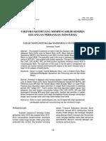 Faktor faktor yang mempengaruhi kinerja keuangan perbankan indonesia