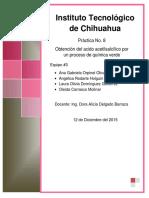 Obtención del acido acetilsalcílico por un proceso de química verde
