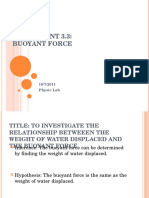 Experiment Buoyant Force