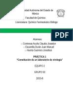 Reporte Constitución laboratorio de virología