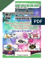 JFK SPED Center 10th Founding Anniversary Programme