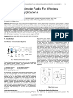 Analysis of Multimode Radio for Wireless Comunication Applications
