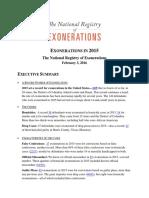 U.S. Exonerations in 2015