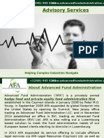 AFA presents profitable and complete Advisory services.