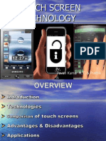 Touchscreen technology ppt by pavan kumar M.T.