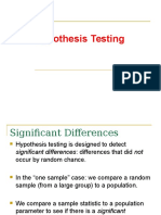 PPT Hypothesis Testing