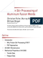 Friction Stir Processing of Aluminium Fusion Welds