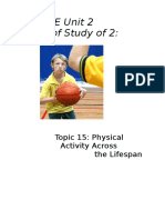 Chapter 15 - Physical Activity Across the Lifespan