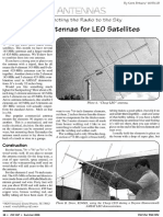 Cheap Antennas for LEO Satellites