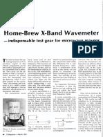 Home Brew X Band Wavemeter