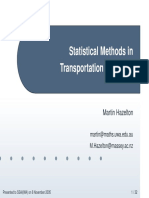 Statistical Methods in Transportation Research