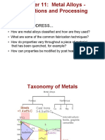Metal Alloys Application and Processing