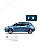 Features and Specs of nissan leaf