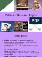 Pathos, Ethos and Logos