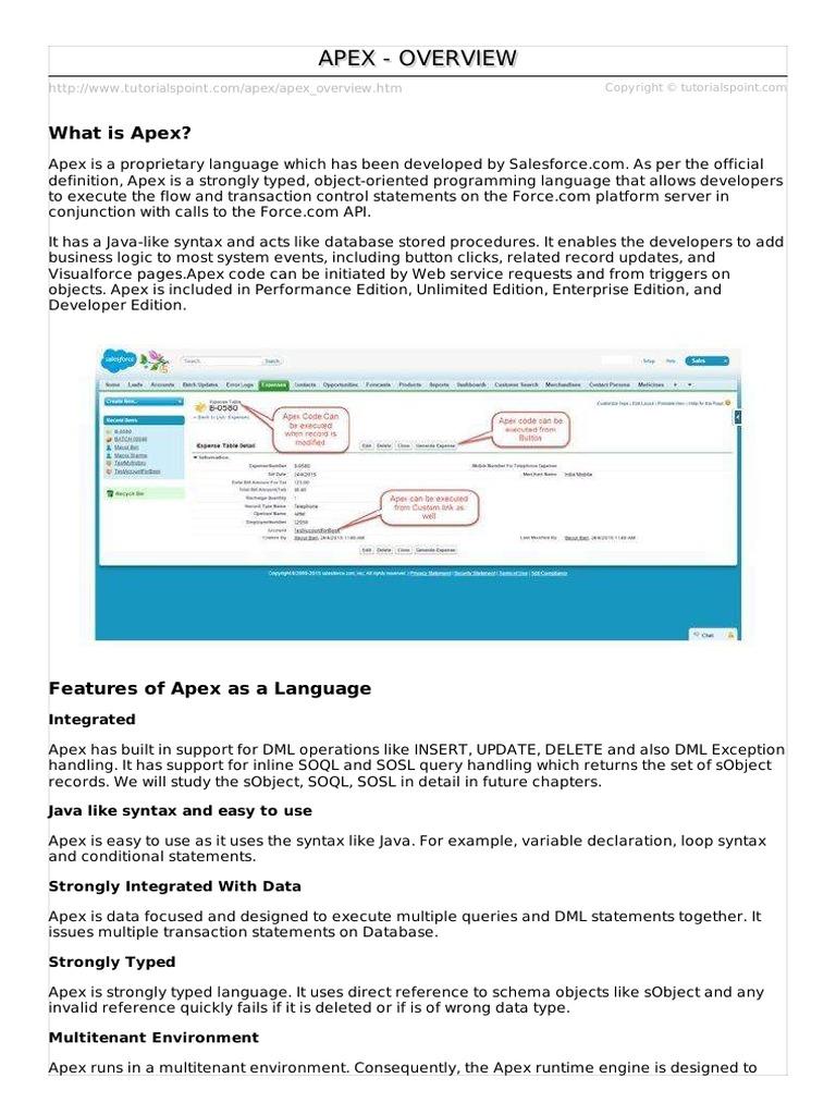 2  apex_overview pdf   Salesforce Com   Control Flow