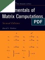 Fundamentals of Matrix Computations