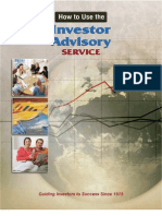 How to Use the Investor Advisory Service
