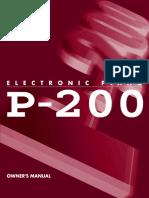 Yamaha P-200 User Manual