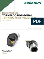 HERRAMIENTA TORNEADO POLIGONAL EUSKRON ISO 26623 / TURNING tools POLIGONAL