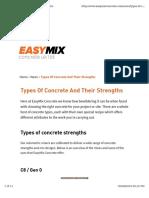 Type of Concrete