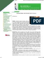 Reumatismul Articular Acut (r.A