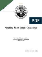 Machine Shop Saftey Guidelines Training
