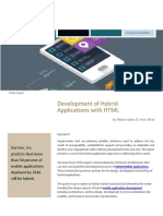 Mobility Solutions - Development of Hybrid Mobile Applications with HTML