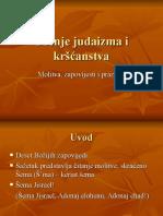 Ucenje judaizma i krscanstva Molitva zapovijesti i praznici 6 susret 29 11 11.ppt