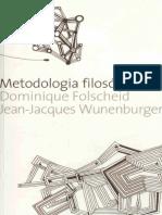 Folscheid & Wunenburger. Metodologia Filosófica.
