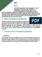 human population EVS Project