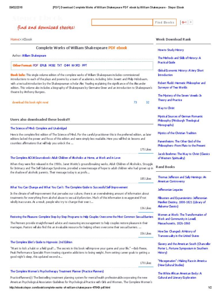 Pdf download complete works of william shakespeare pdf ebook by pdf download complete works of william shakespeare pdf ebook by william shakespeare stepor ebook sigmund freud psychoanalysis fandeluxe Images